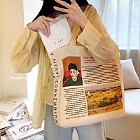 Túi tote túi vải tote phong cách vintage mẫu mới nhất 2020-2021