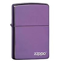 Bật lửa Zippo Classic High Polish Purple Zippo Logo 24747ZL