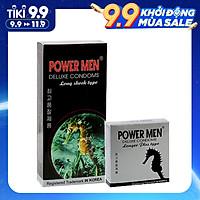 Bao cao su Powermen Gân Gai Tăng khoái cảm - Kéo dài thời gian - Hàng Chính Hãng - bộ 15 BCS