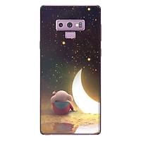 Ốp lưng nhựa cứng nhám dành cho Samsung Galaxy Note 9 in hình Heo Ngắm Trăng