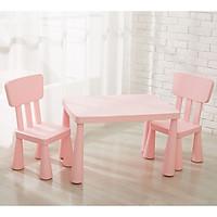 Bộ bàn ghế Nhựa Cao Cấp cho Bé - Màu Hồng Pastel