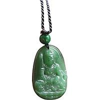 Mặt Dây Chuyền Văn Thù Bồ Tát Đá Ngọc Tuỷ Ngọc Quý Gemstones MD53 (3 x 2.3 cm)
