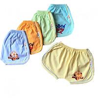 Set 5 quần đùi cotton màu nhạt cho bé