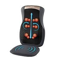 Đệm ghế massage Shiatsu công nghệ 3D, Chức năng nhiệt Homedics MCS-624HJ (Công nghệ pin sạc 2021)