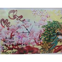 tranh đính đá Đồng Hồ Cha Mẹ ( Phú Qúy) kt 92*60cm chưa đính