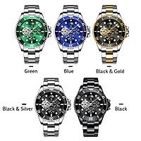 TEVISE Men Automatic Mechanical Watch Analog Chronograph Business Wrist Watch 30M Waterproof Luminous Dial Moon Phase
