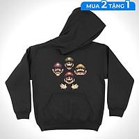 Áo hoodie Mario - Bohemian Rhapsody Unisex THE NEXT LEVEL - Cotton 100% nam nữ - HD0013