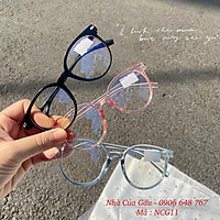 Mắt kính nữ thời trang gọng tròn giả cận 3 màu dễ thương NCG11