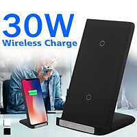 30W QI Wireless Charger Fast Charging Stand Support For iPhone11 Pro Max Galaxy S10 / Note10 etc