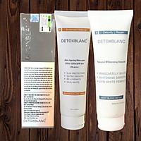 Combo Detox BlanC Sữa Tắm Thải Độc Trắng Da Body Blanc Bath Detox và Mặt nạ thải độc Detox Mask +Tặng kem dưỡng thể chống nắng trắng da Body Maquillage Creme