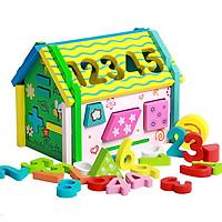 Ngôi nhà thả hình khối đồ chơi giáo mầu số