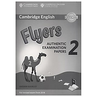 Cambridge English Young Learners 2 for Revised Exam from 2018 Flyers Answer Booklet: Authentic Examination Papers