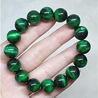 Vòng tay đá mắt hổ thiên nhiên xanh lá Size 10li – VTD249