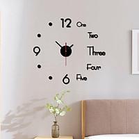 Đồng hồ dán tường TERAX tráng gương trang trí hiện đại - dùng pin con thỏ