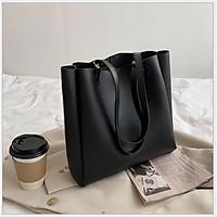 Túi Xách Nữ Thời Trang Da Trơn Phong Cách Hàn Quốc, Túi xách công sở + Tặng 1 đôi bông tai hợp kim thời trang