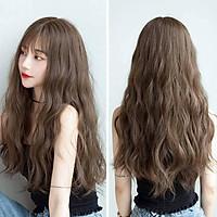 [ KÈM LƯỚI VÀ LƯỢC ] Tóc giả nguyên đầu có rãnh da đầu, tóc giả nữ nguyên đầu, tóc giả nữ - Tóc giả bộ xoăn sóng, tóc giả dài, tóc giả xoăn, tóc giả xù mì, tóc giả cho người trung niên