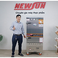 Tủ Nấu Cơm 30 Kg Gạo/ Mẻ Bằng Điện Gas 10 Khay Nhập Khẩu NEWSUN - Hàng Chính Hãng