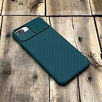 Ốp lưng kéo nắp camera màu xanh cao cấp dành cho iPhone 7 Plus / 8 Plus