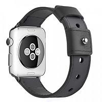 Dây đồng hồ Apple Watch, dây da Handmade 04 khóa thép không gỉ cho đồng hồ Apple Watch