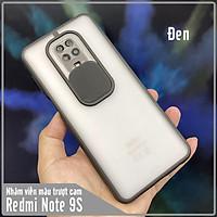 Ốp lưng cho Xiaomi Redmi Note 9S - Note 9 Pro nhám viền màu trượt camera