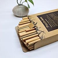 Hộp 100 Ống Hút Cỏ (Grass Straws) Dài 15 cm - Không Tan, Biến Dạng Trong Nước - Dùng Được Cho Tất Cả Các Loại Thức Uống