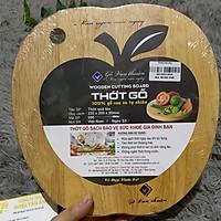 Thớt gỗ hình quả táo .