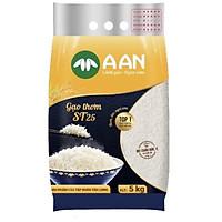 Gạo ST25 Túi 5kg A An - Cơm mềm dẻo, thơm nhẹ