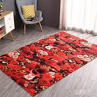 Thảm nhung 3D hoa hồng đỏ TSN01(60x90cm)