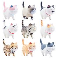 Bộ 09 Mô Hình Mèo Kawaii Dễ Thương - Mẫu 2