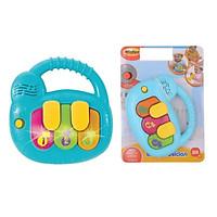 Đàn Đồ Chơi Nhạc Cụ Bé Đàn piano mini cầm tay có nhạc Winfun 0640 - đồ chơi cho bé từ 6 tháng tới 2 tuổi - tặng đồ chơi dễ thương