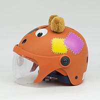 Mũ Bảo Hiểm Thể Thao Trẻ Em XPRO120 Hình Gấu Có Kính