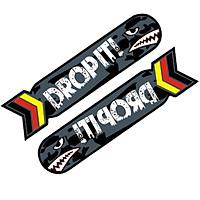 DROP IT 2 CÁ MẬP - Sticker transfer hình dán trang trí Xe hơi Ô tô size 4x18.5cm