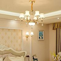 Đèn trần - đèn chùm - đèn trang trí pha lê mang phong cách Châu Âu ( Loại 6 bóng)