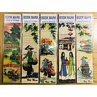 Mỹ nghệ Thanh Toàn - Kẹp sách tre màu 5 -  Combo 5 cái