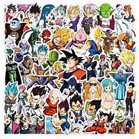 Bộ 50 miếng Sticker hình dán Dragon Ball Z