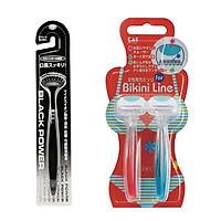 Combo bàn chải ion vệ sinh lưỡi + 2 dao cạo chuyên dùng cho phụ nữ nội địa Nhật Bản
