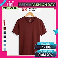Áo Phông Nam Tay Ngắn 5S (6 màu), Chất Liệu Premium Cotton Siêu Mát, Bền Màu, Thiết Kế Trẻ Trung Năng Động (TSO21023-01)