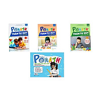 Combo 3 cuốn pomath toán tư duy 1, 2,3 và Bộ Học Liệu Kèm Sách POMath - Học Toán Qua Trò Chơi QP