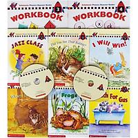 Scholastic Phonics Booster Books : Box Set Level 2 (Include 6 Books, 2 Workbooks and 2 Audio CDs)