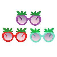 3 Pieces Boys Girls Cute Strawberry Shape Sunglasses Sun Protection Glasses