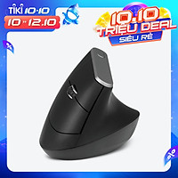 2.4G Wireless Optical Mouse Vertical Mouse 6 Keys Ergonomic Mice with 3-gear Adjustable DPI for PC Laptop Black