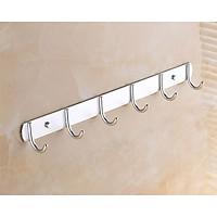 Móc treo phòng tắm loại 6 móc - Nhôm sáng - Hàng Cơ bản