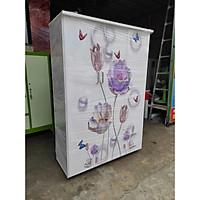 Tủ nhựa Đài Loan 3 cánh hình hoa