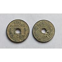 Xu Cổ Xưa Đông Dương 1/4 Cent Năm 1941-1944 [Tiền Cổ Xưa Sưu Tầm]