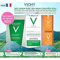 Bộ Sản Phẩm Kem Dưỡng Dành Cho Da Mụn Với Tác Động Kép Vichy Normaderm Phytosolution (New)