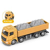 Đồ chơi mô hình xe tải chở đá KAVY NO.8809 chất liệu hợp kim và nhựa nguyên sinh an toàn, chi tiết sắc sảo