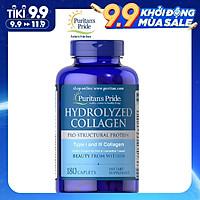 Thực Phẩm Chức Năng - Viên Uống Đẹp Da, Mờ Nám Collagen Thủy Phân Puritan'S Pride Hydrolyzed Collagen 1000Mg (180 Viên)