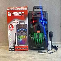 Loa Kéo Karaoke Bluetooth Kimiso QS-7801 Kèm điều khiển Tặng 1 micro có dây Nghe Cực Hay - Hàng Nhập Khẩu -4385-