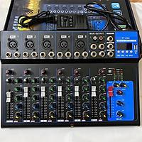Bàn Mixer F7 Có Bluetooth có màn hình Led Mixer F7 Thu Âm Livestream Karaoke