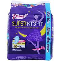 Combo 4 Gói Băng Vệ Sinh Diana Super night 35cm (12 Miếng/Gói)